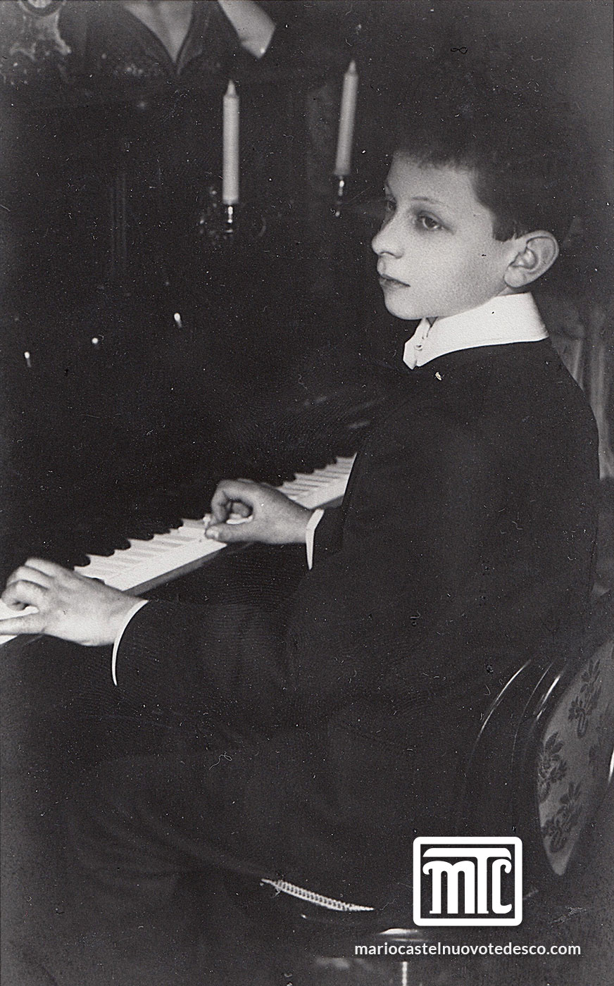 MCT at his first piano,1908