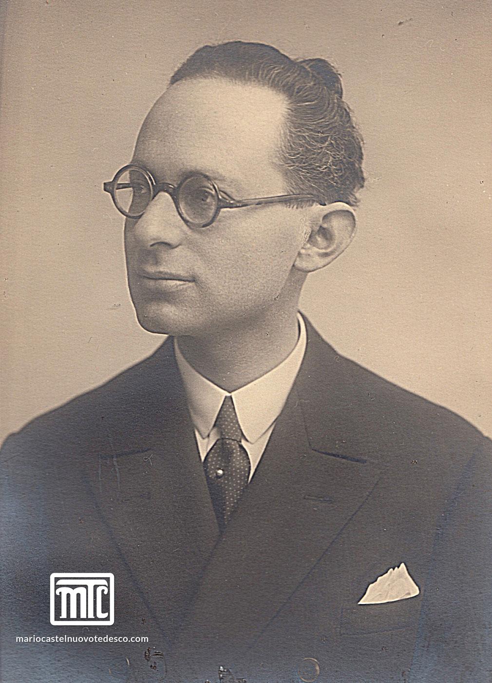MCT portrait, Florence 1925
