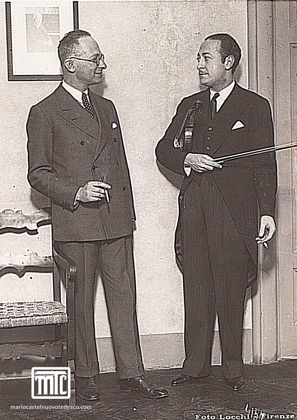 MCT with Jascha Heifetz, Florence, 1934
