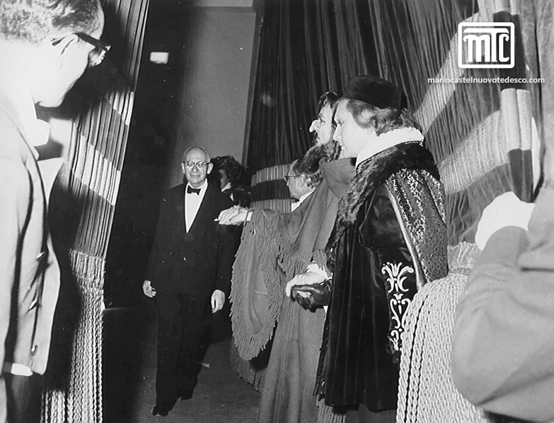 MCT at premiere of Merchant of Venice, Curtain Call, Florence, 1961