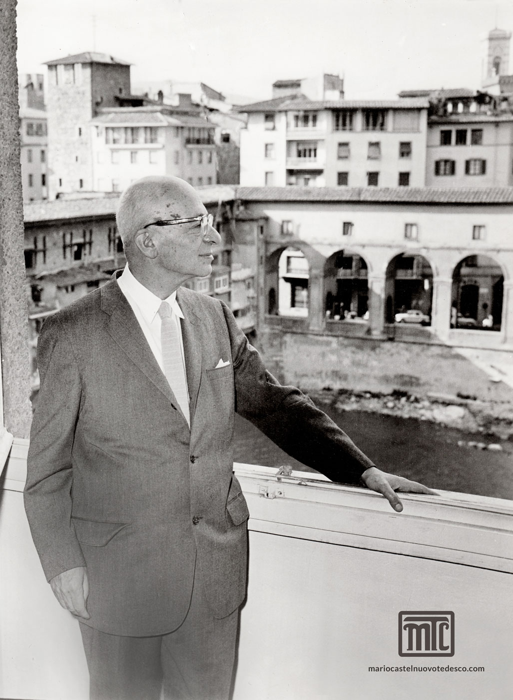 MTC at his apartment in Florence, 1961