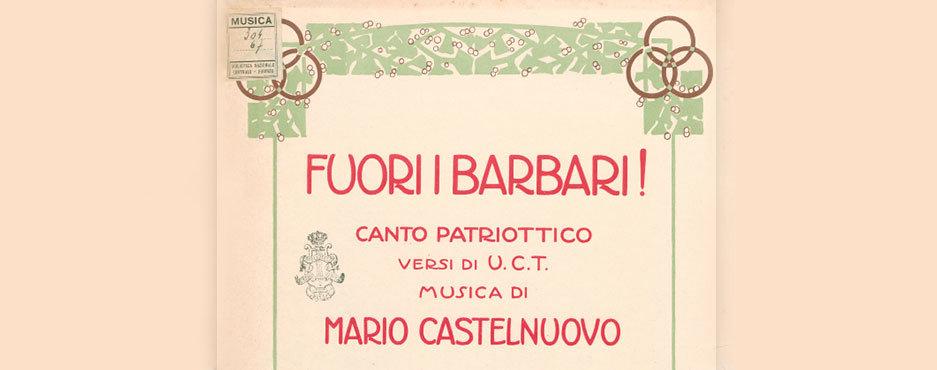 Fuori i Barbari! Canto patriottico [Patriotic song]