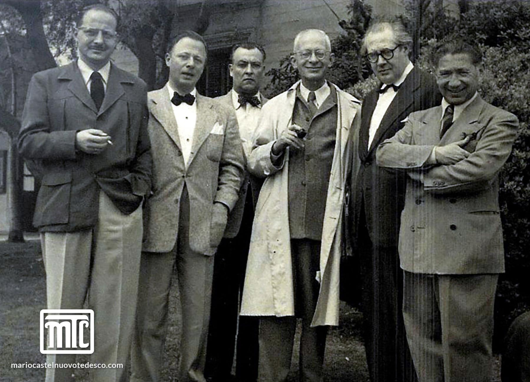 MCT, Segovia and the Paganini Quartet, 1951
