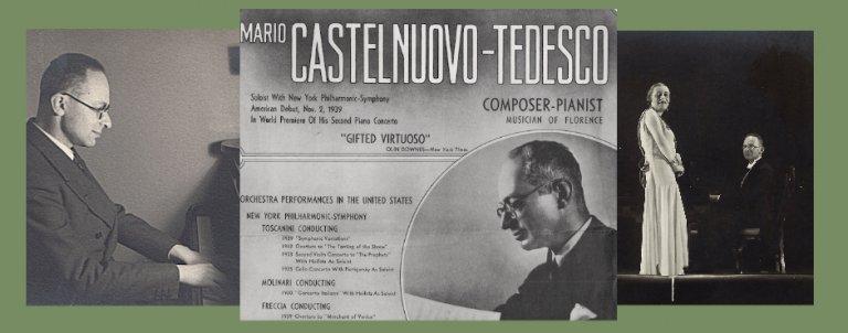 Mario Castelnuovo-Tedesco as performer