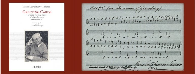 New Ricordi edition Castelnuovo-Tedesco Complete Greeting Cards for Piano
